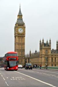Parlement, horloge, Angleterre, voiture, asphalte, architecture, ville, tour, point de repère