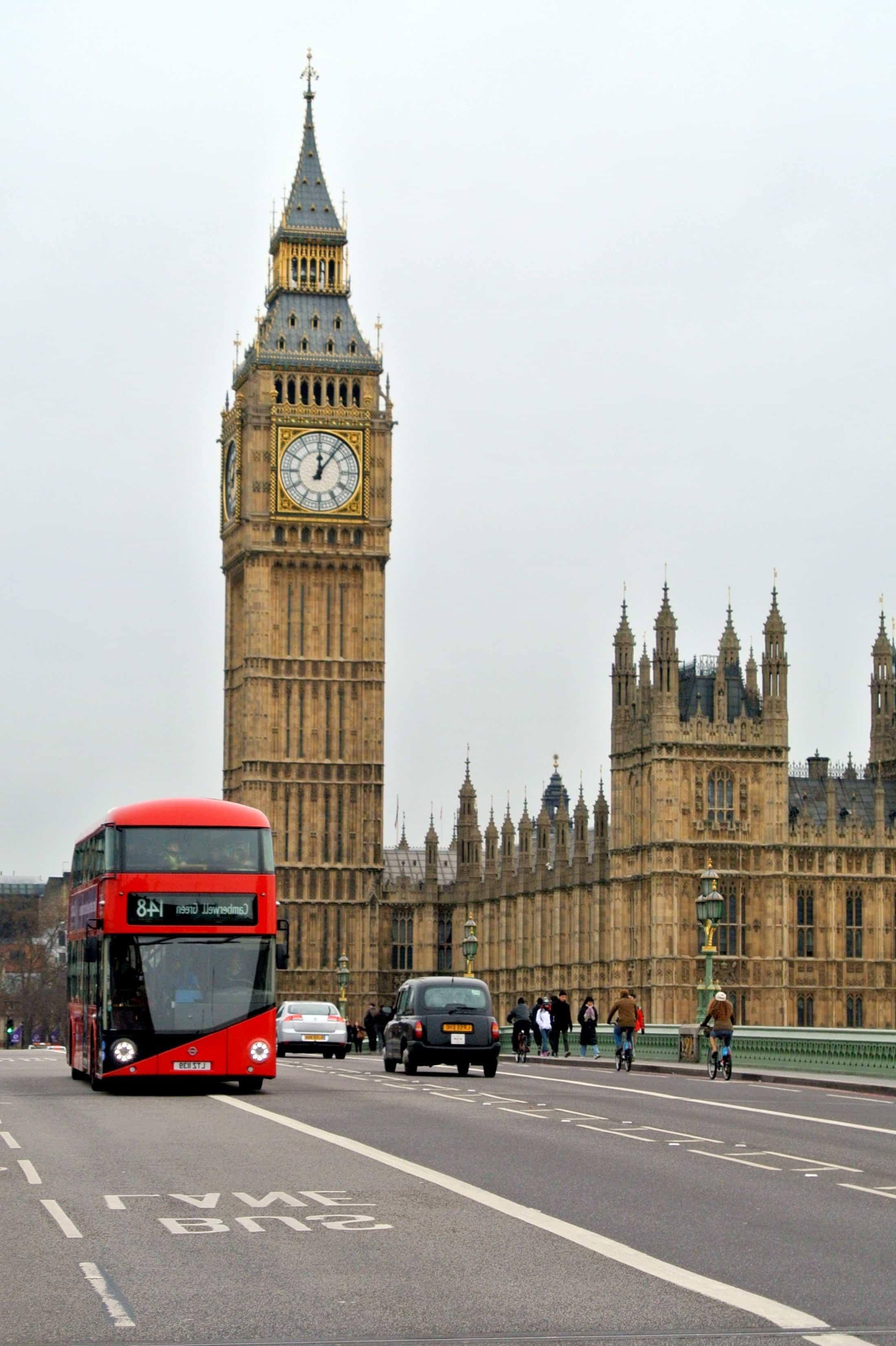 free picture parliament clock england car asphalt architecture