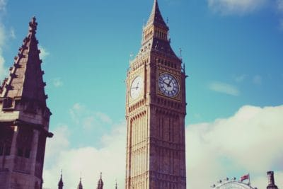 architecture, England, London, parliament, clock, tower, city, blue sky, landmark, outdoor