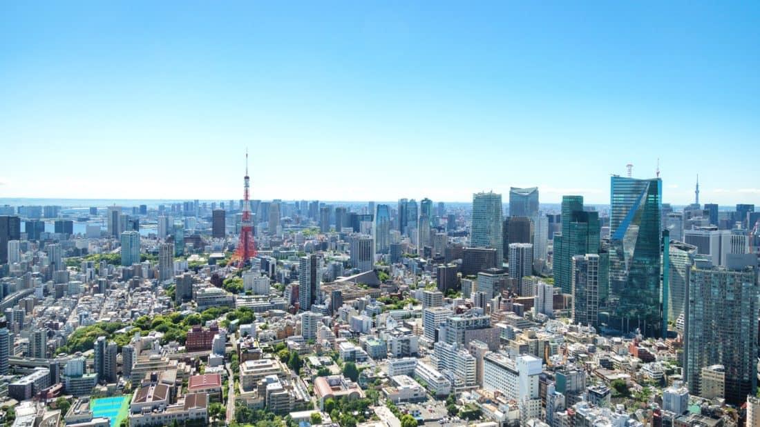 city, cityscape, downtown, metropolis, blue sky, architecture, aerial, urban