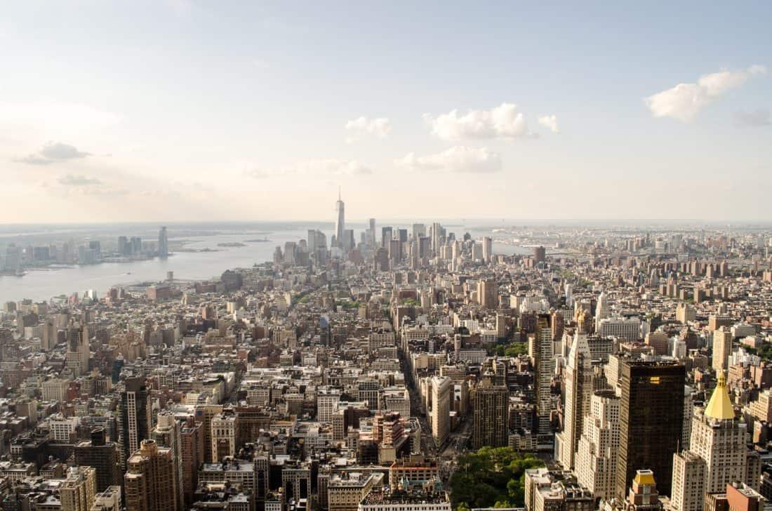 都市、メトロポリス、日光、都市景観、建築、都市、ダウンタウン、空中