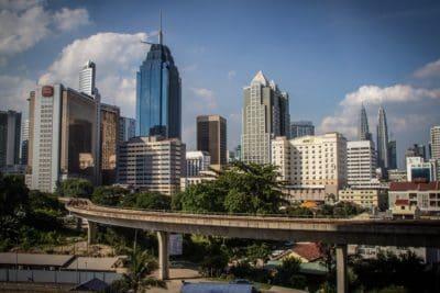 architettura, città, metropoli, paesaggio urbano, edificio, in centro, moderno, cielo blu