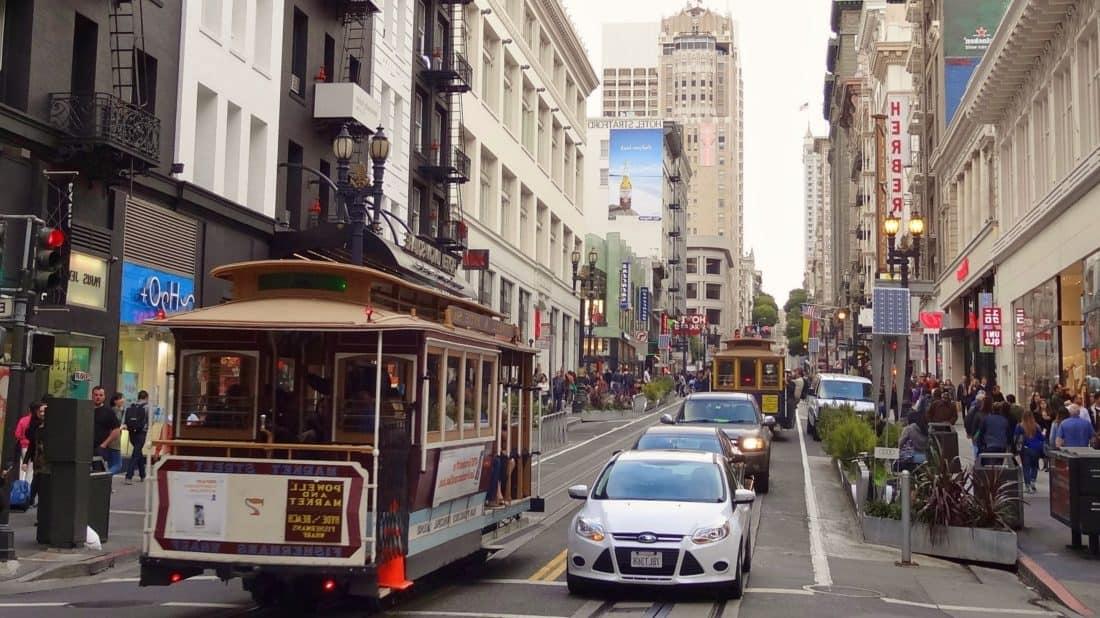 utca, város, villamos, busz, road, forgalom, városi, villamos