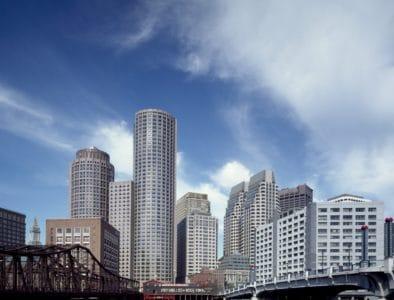 Architektur, Stadt, Metropole, Innenstadt, Stadtbild, Wolke, blauer Himmel, modern