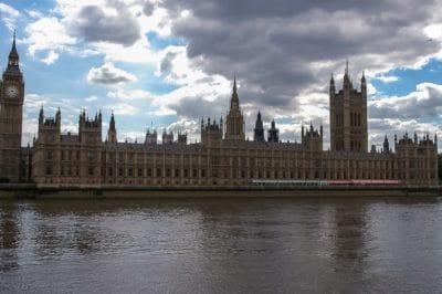 Architektúra, rieka, mesto, metropola, cloud, parlamentu, downtown, veža