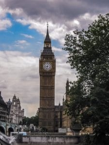 clock, building, England, street, architecture, tower, old, city, parliament, landmark