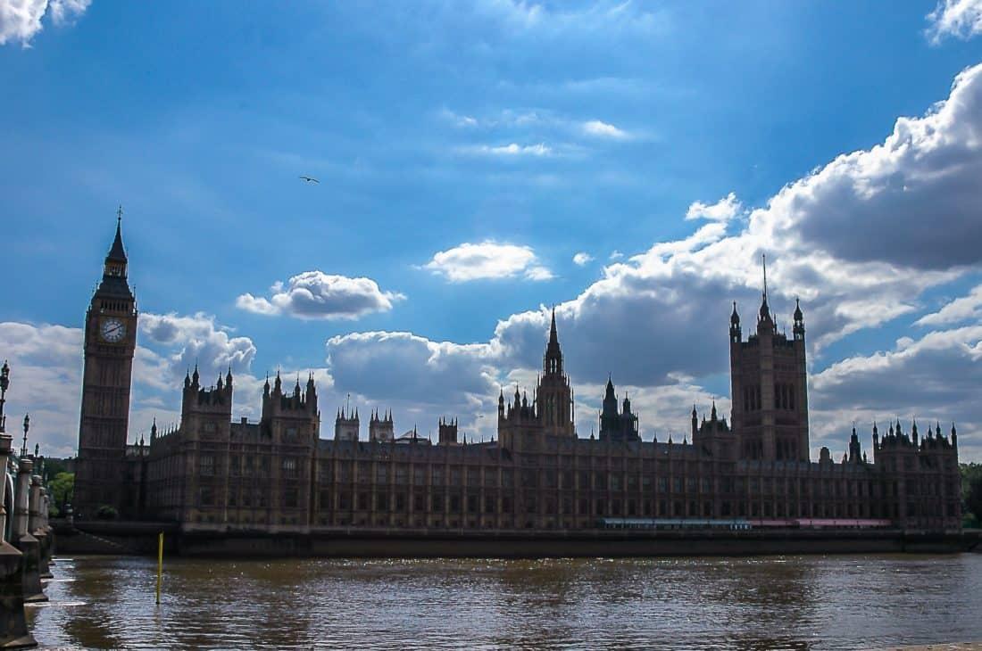 architecture, point de repère, Londres, Angleterre, rivière, ville, tour, Parlement