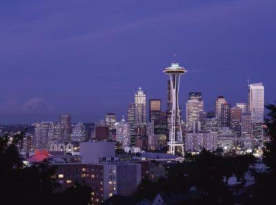 ciudad, edificio, torre, monumento, paisaje, arquitectura, cielo anochecer, panorámica del centro de la ciudad,