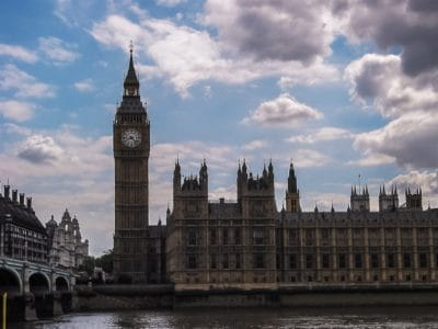 building, England, tower, landmark, architecture, city, parliament, river, tower, palace