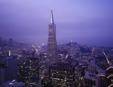 Architektur, Stadt, Stadtbild, hoch, Himmel, Sonnenuntergang, Turm, Gebäude, Turm, Nacht