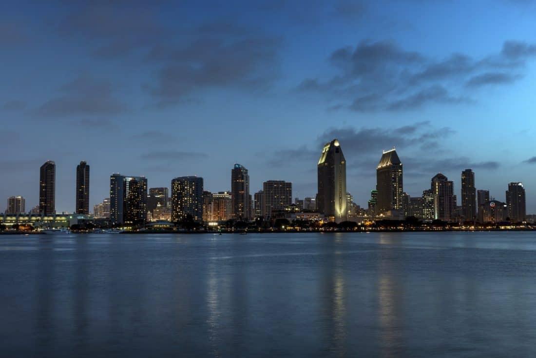City, centrum, byggnad, landmark, stadsbilden, arkitektur, ocean, waterfront