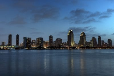 city, downtown, building, landmark, cityscape, architecture, ocean, waterfront
