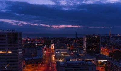 città, crepuscolo, architettura, paesaggio urbano, tramonto, edificio, notte