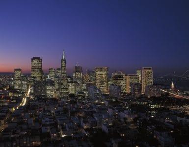 città, paesaggio urbano, architettura, costruzione, metropoli, downtown, urbano, notte