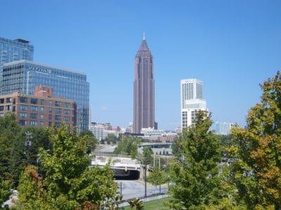 arkitektur, stad, byggnad, landmark, blå himmel, stadsbild, moderna, downtown