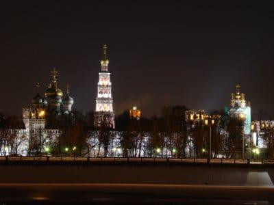 ville, crépuscule, architecture, ciel, tour, urbain, night, historique, en plein air