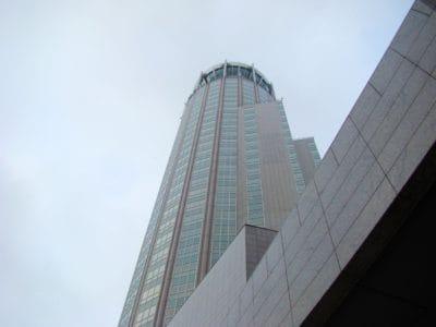 arkitektur, byggnad, city, downtown, moderna, blå himmel, fasad, urban, futuristiska