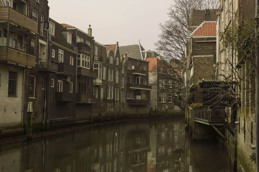 architecture, house, exterior, street, old, city, river, water, urban