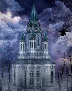 sky, illustration, art, Gothic, tower, night, darkness, castle