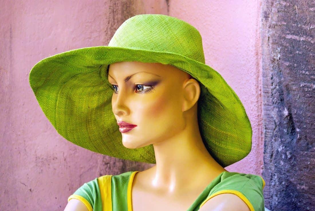 plastik dukke, mode, pige, hat, portræt, person, kunst, hat