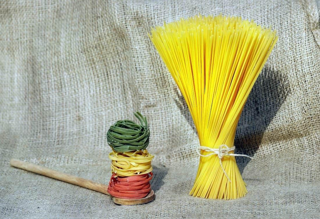 Spaghetti, masih hidup, makanan, diet, kain