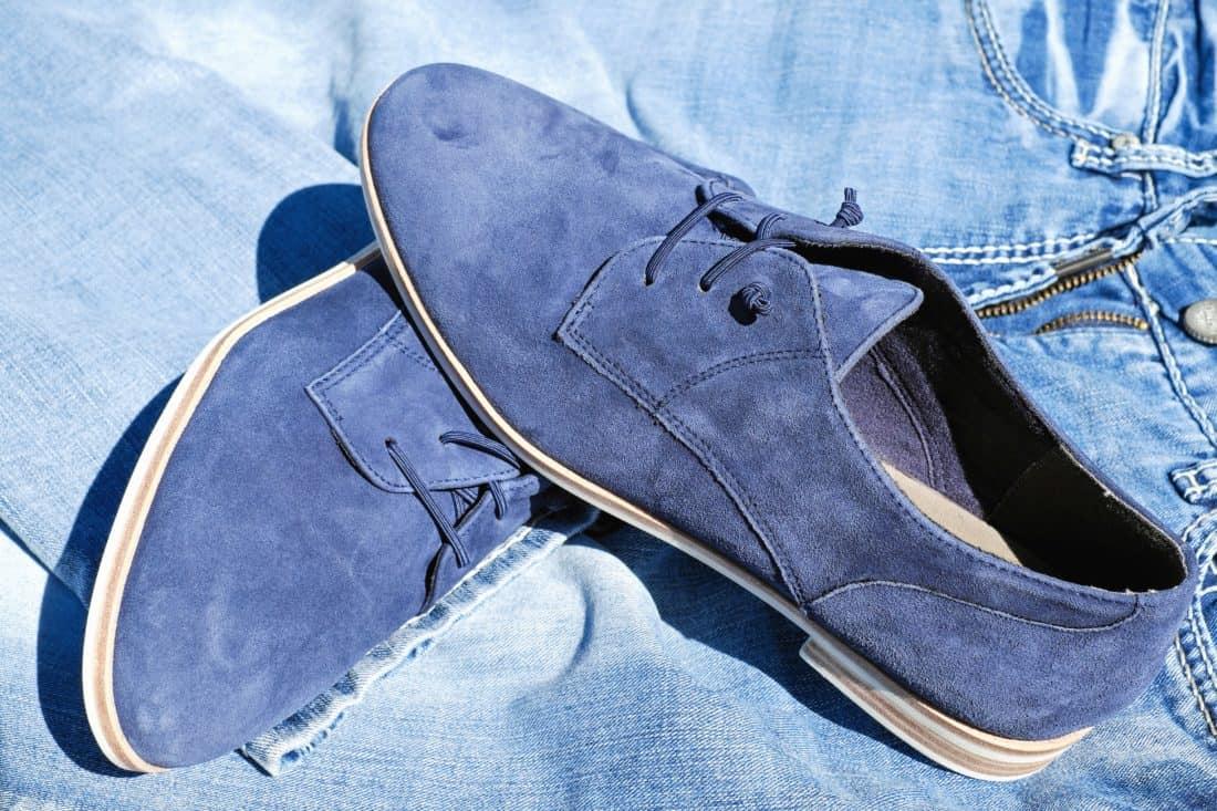 moda, calzado, cuero, calzado, azul, vaqueros
