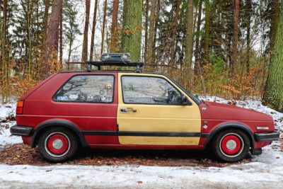auto, veicoli, trasporto, foresta, legno, valigia