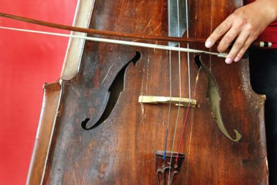 fil, instrument, main, musique, bois, main, mélodie