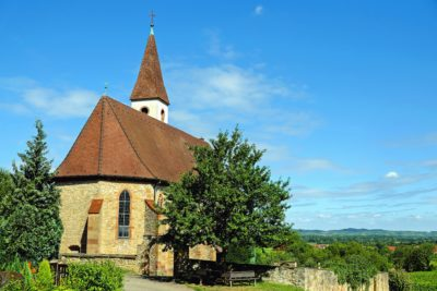 architecture, église, vieux, toit, sky tower, bleu, arbre en plein air, de religion,