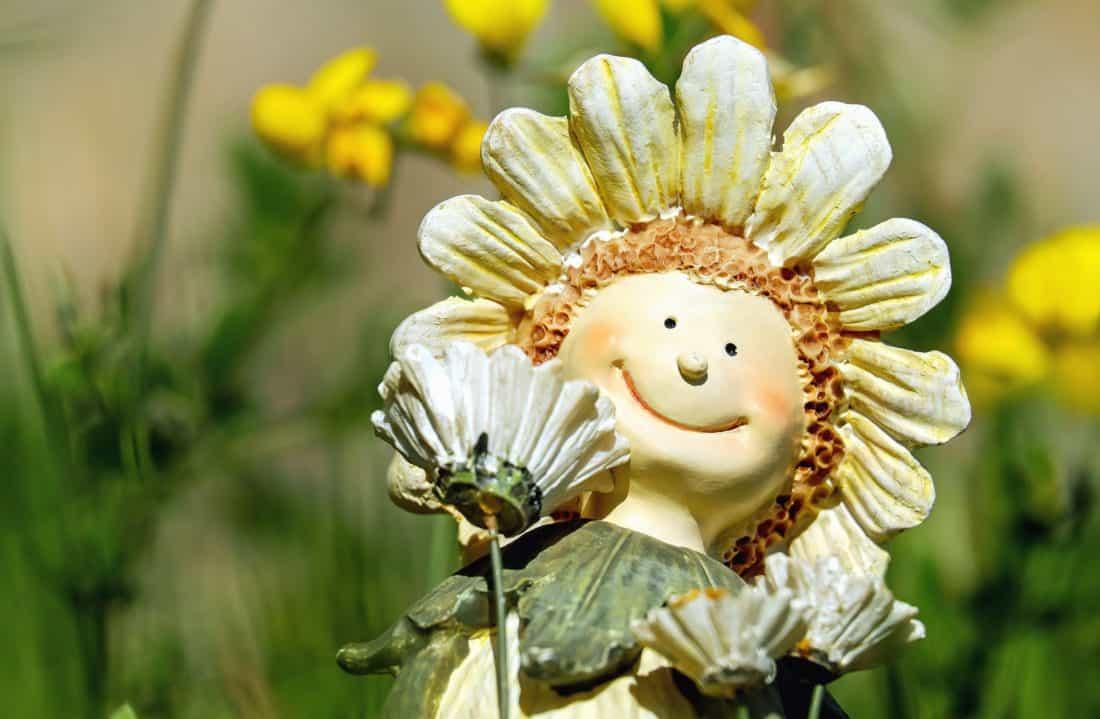 art, doll, flower, still life, decoration, garden, petal