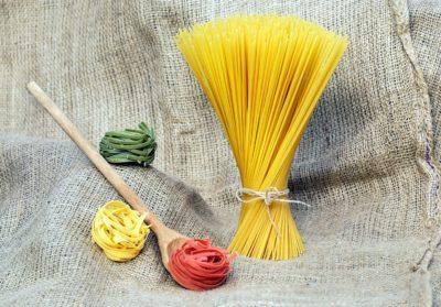 spaghetti, makaroni, tre, mat, deigen, dekorasjon