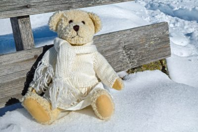 snow, winter, teddy bear, toy, cute, white