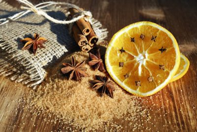 winter, lemon, cinnamon, still life, vitamin, fruit, fabric, wood, table, decoration