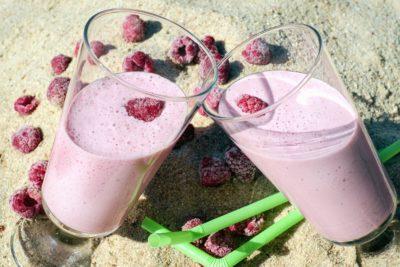 lasi, kesä, elintarvike, makea, juoma, hedelmät, juoma, herkullinen, kerma