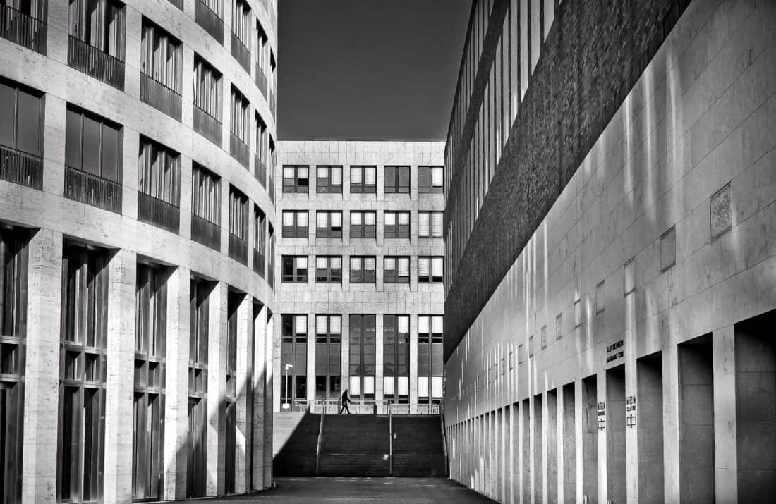 monokrom, bangunan, arsitektur, city, perkotaan, fasad, eksterior