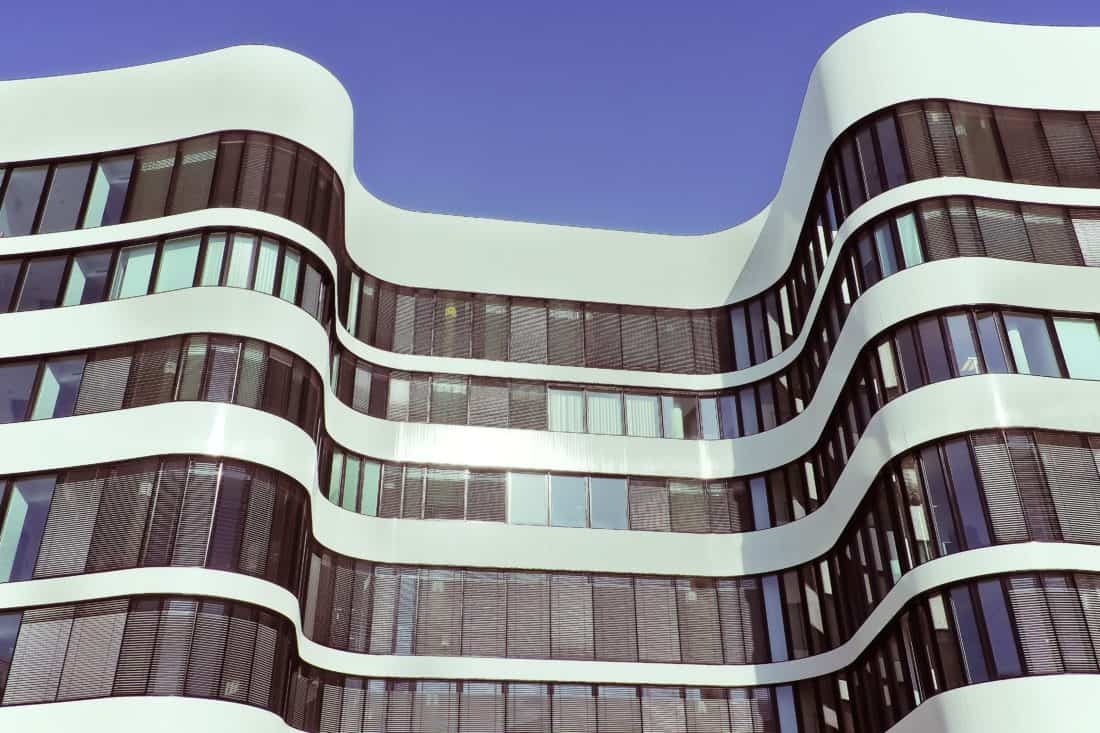 moderne, arhitektura, zgrada, vanjski, futuristički, urbane, u centru grada
