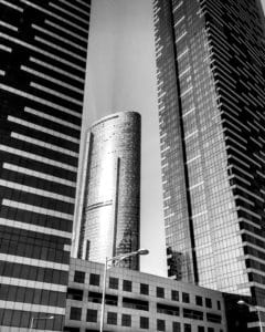architecture, city, downtown, monochrome, building, window, tower, urban, contemporary