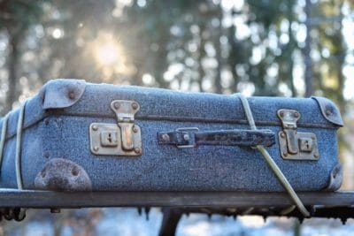 old, latch, suitcase, travel, rope, travel