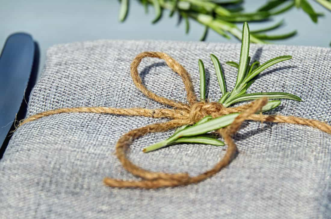 rostlina, list, dekorace, lana, tkaniny, balení, dárek