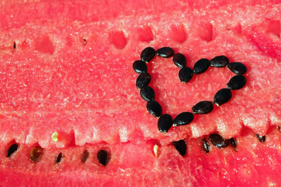 Wassermelone, Samen, Obst, Lebensmittel, Slice, Melone, süße, Textur, Herz, lecker, Samen