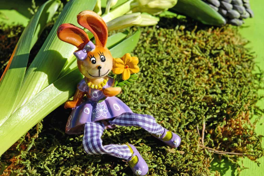 doll, plant, Easter, toy, garden, decoration, flower