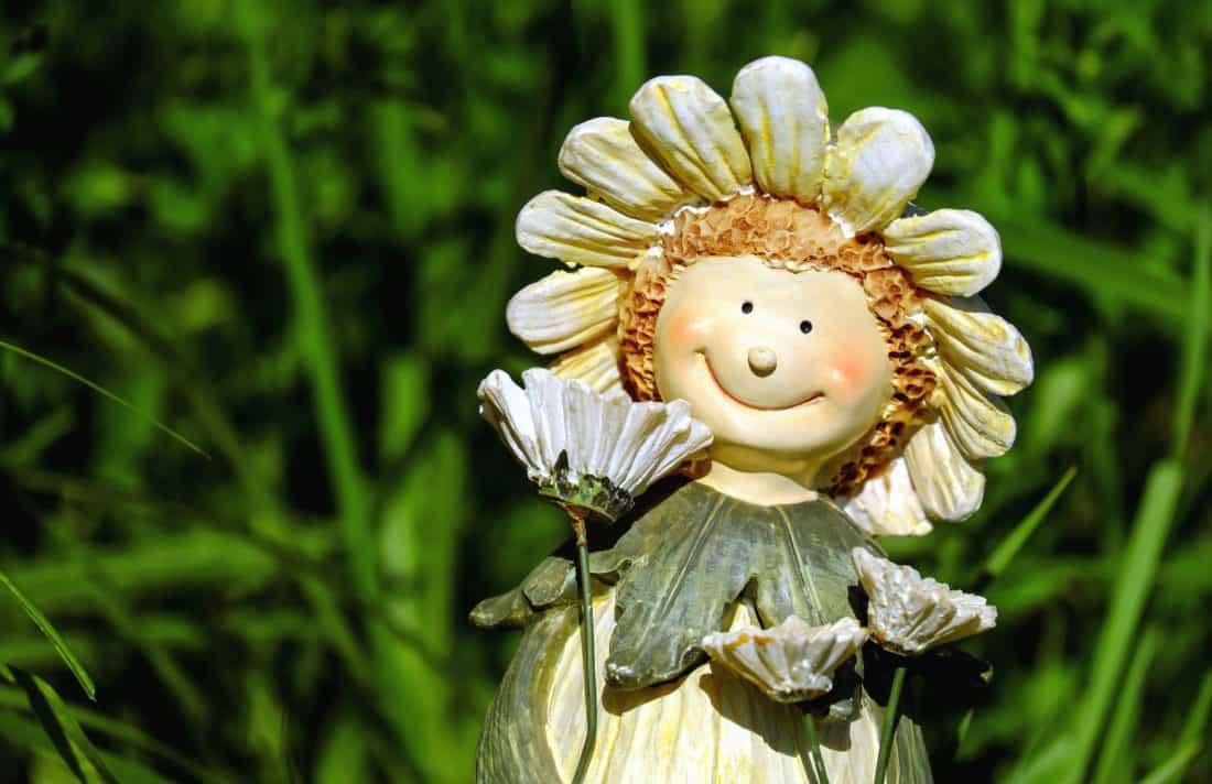 flores, juguetes, muñeca, jardín, decoración, hoja, arte