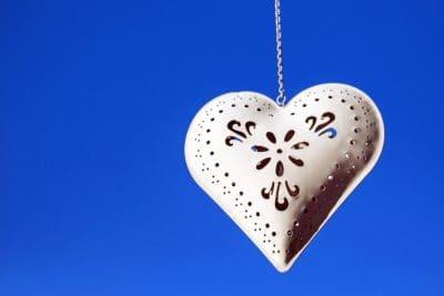 corazón, arte, decoración, amor, metal, joyería