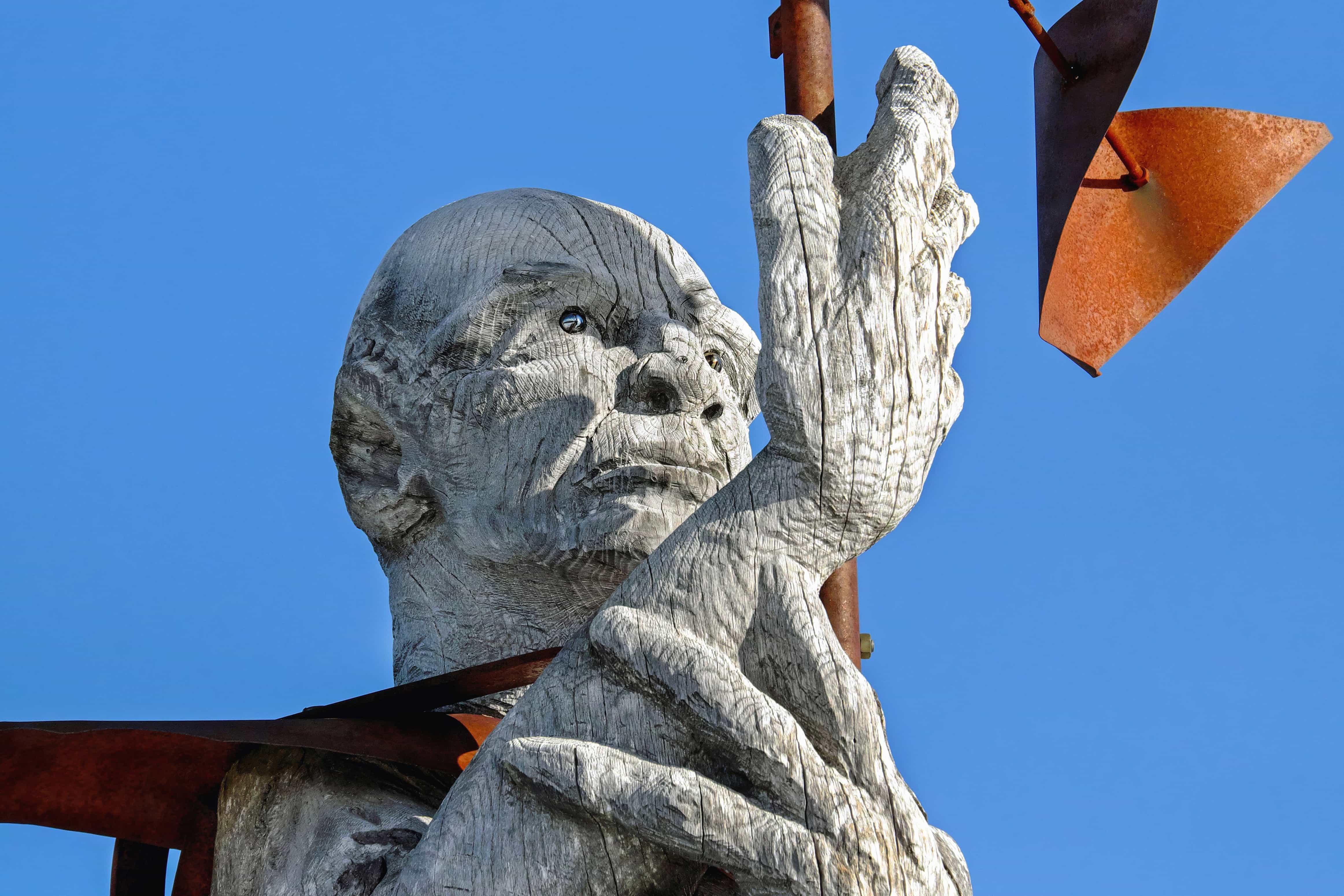 Sculpture Sky Wood Metal Statue Outdoor Art