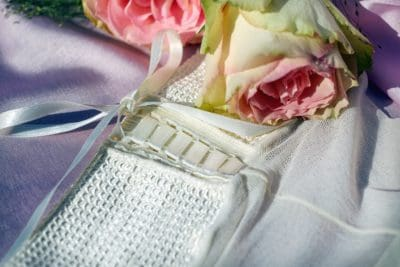 luxe, mariage, rose, nature morte, fleur, sac