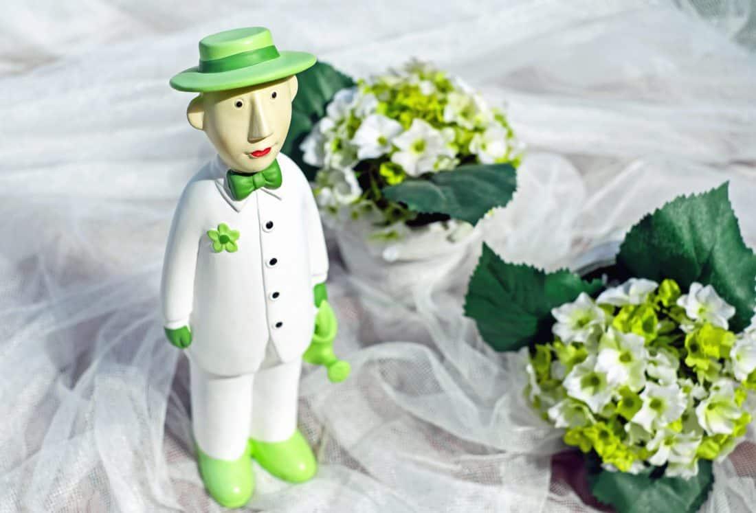 Blume, Puppe, Hut. Dekoration, Blütenblatt, Hochzeit, Blatt