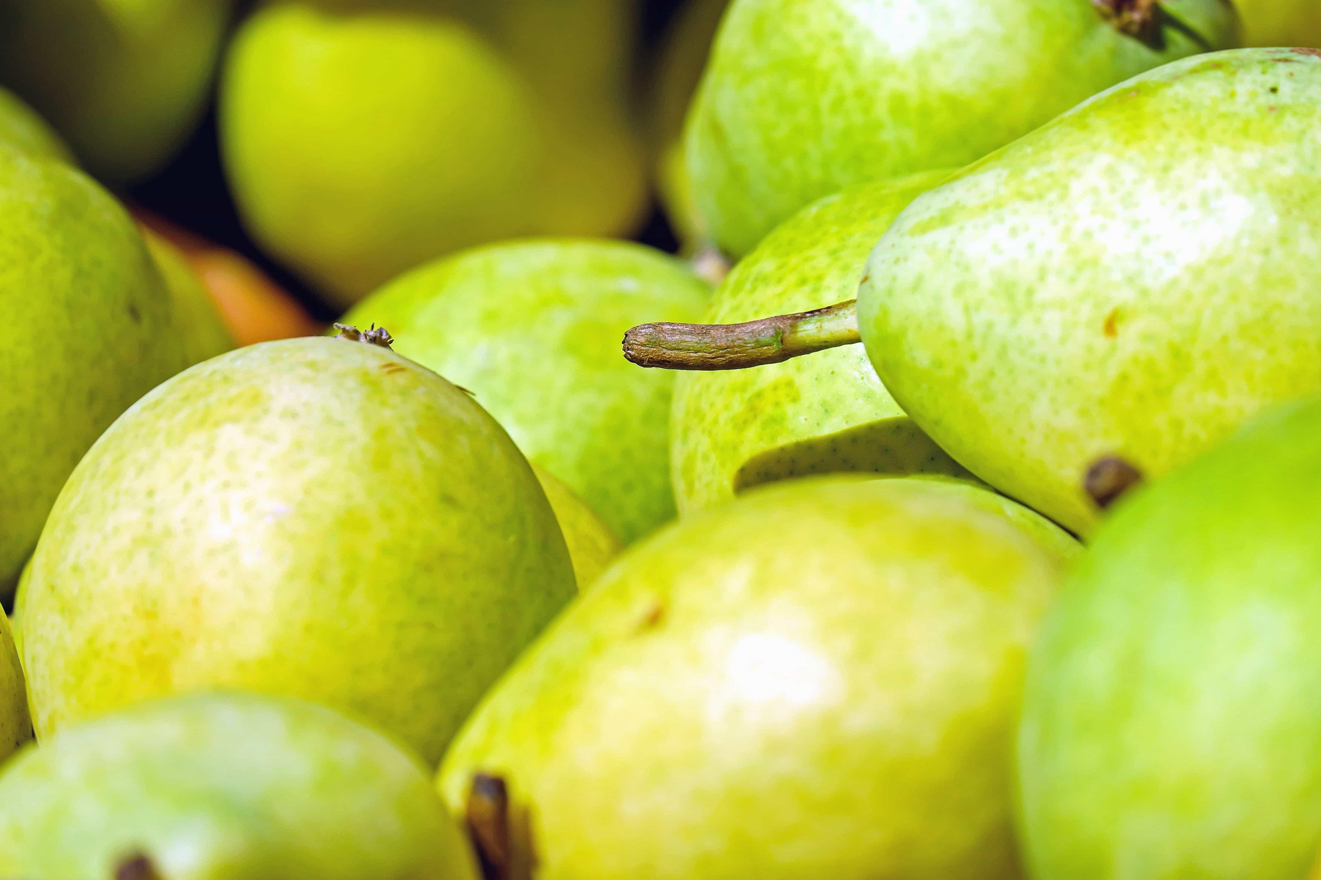 grøn frugt