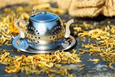 tetera, té, bebida, naturaleza muerta, metal, objeto, decoración, bebidas
