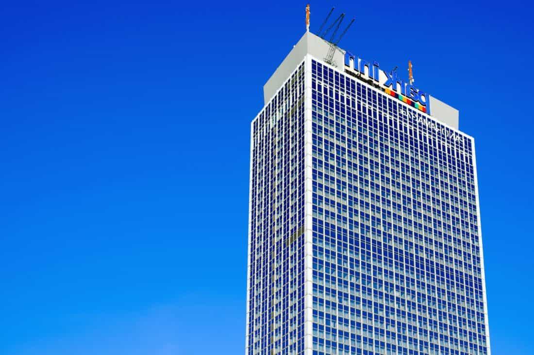Innenstadt, blauer Himmel, Stadt, Architektur, urban, hoch, hoch, Glas