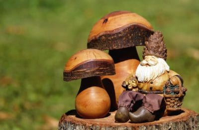 mushroom, still life, toy, wood, sculpture, art, doll